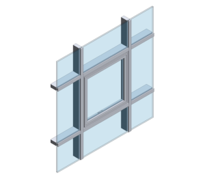 KAWNEER UK LTD Aluminium Curtain Wall, Brise Soleil, Windows